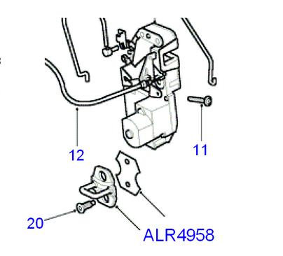 Partie fixe côté carrosserie  Alr49510