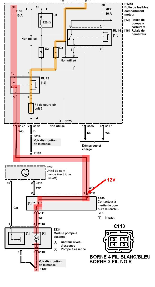 P38 2.5 s'arrête en roulant à 110 sur auroroute résolu le 7mars Pompe10