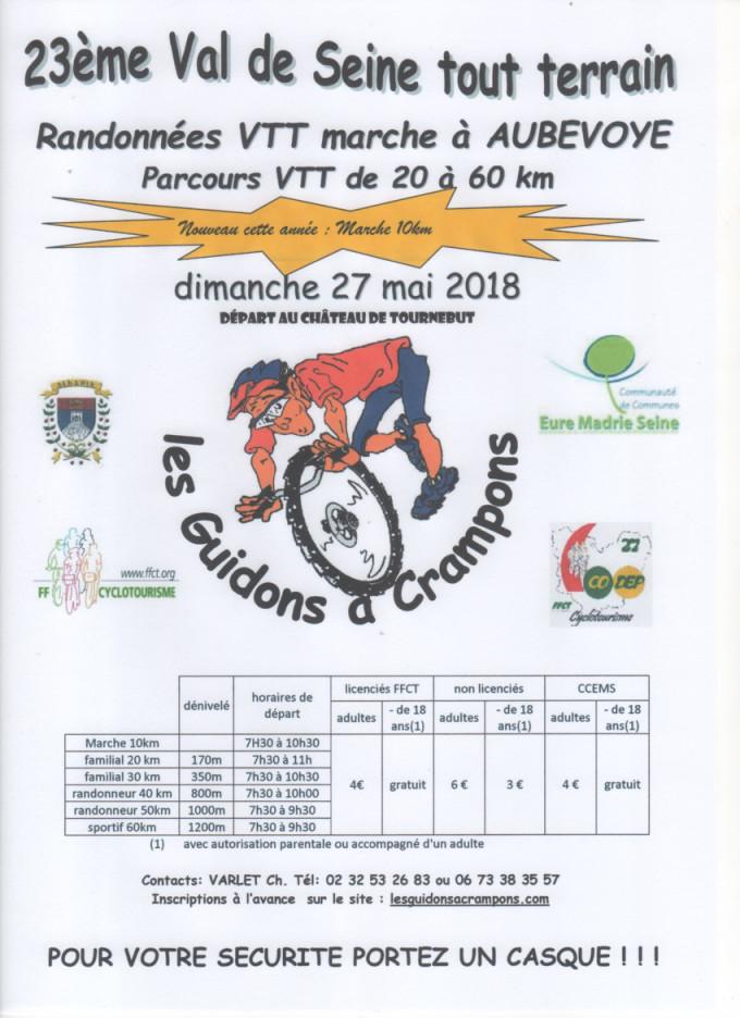 23ème Val de Seine Tout Terrain à Aubevoye - 27 mai 2018 Affich11