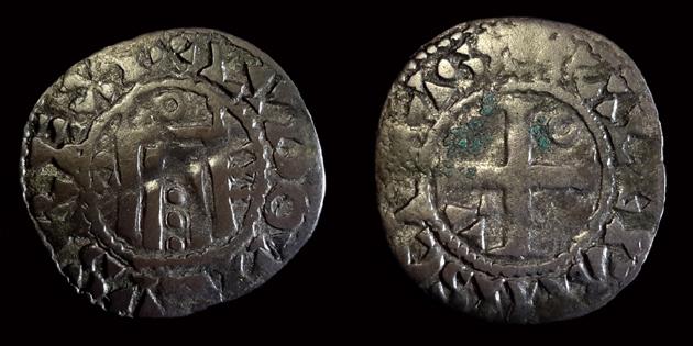"""Denier d'Orléans pour Louis VI """"le gros"""" ... 0048_210"""