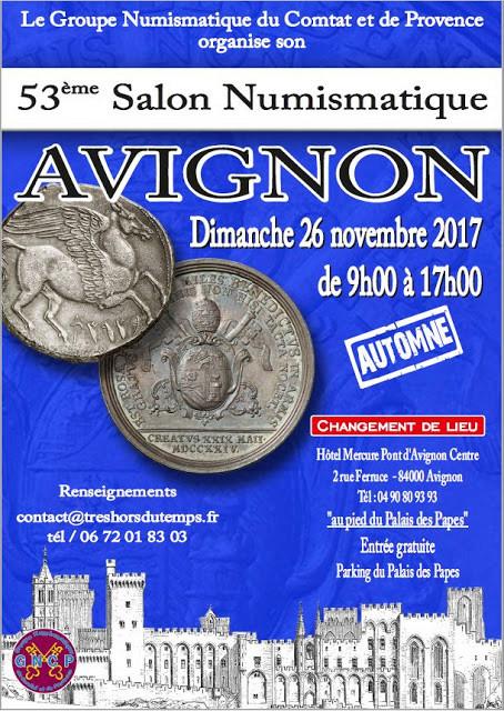 53ème Salon Numismatique d'Avignon - 26 novembre 2017 Affich10
