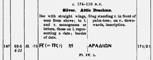 Drachme phénicienne de la cité d'Arados ... Bmc14710