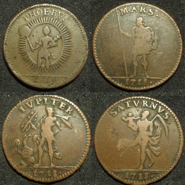 """1 Daler 1718 pour Charles XII de Suède """"Mercurius"""" Daler_10"""