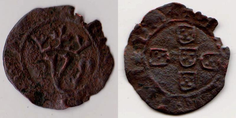 ½ Réal portugais pour Joao 1er (Jean 1er 1385-1433) Demi_r10