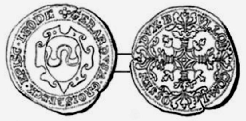 Demi Sprenger de l'Évêché de Liège pour Gérard de Groessbeek (1564 à 1580) ... Demi_s10