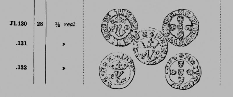 ½ Réal portugais pour Joao 1er (Jean 1er 1385-1433) Dessin10