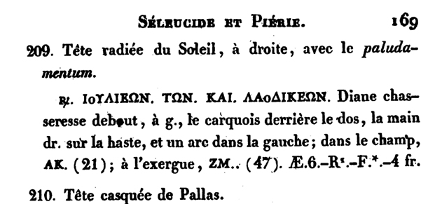 Bronze syrien pour la cité de Laodicée en Séleucide & Piérie ... Mionne11