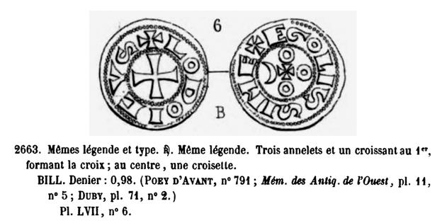 Nouveau Denier du Comté d'Angoulème au nom de Louis IV d'Outremer. Pa266310