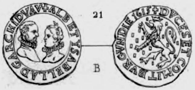 Double denier de Bourgogne/Franche Comté pour Albert & Isabelle ... Pa_53210