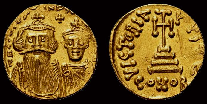 Solidi globulaires, Constans II (641-668) et son fils Constantin IV, Carthage ... Solidu10