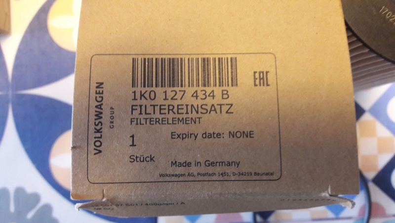 References VW filtres d'origine Ref_fi13