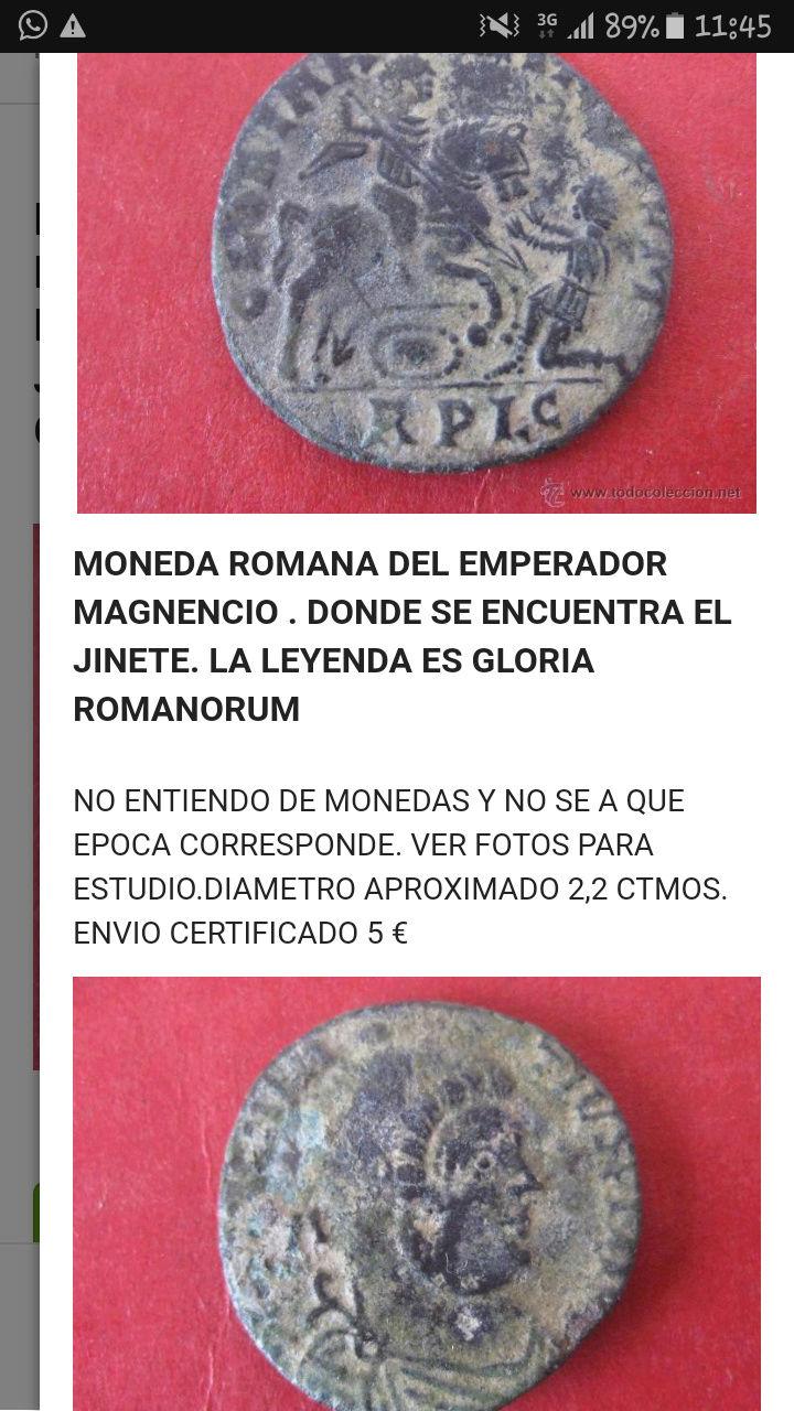 AE2 bajo imperio tipo tipo de GLORIA ROMANORVM. Emperador a caballo alanceando a enemigo. Screen10