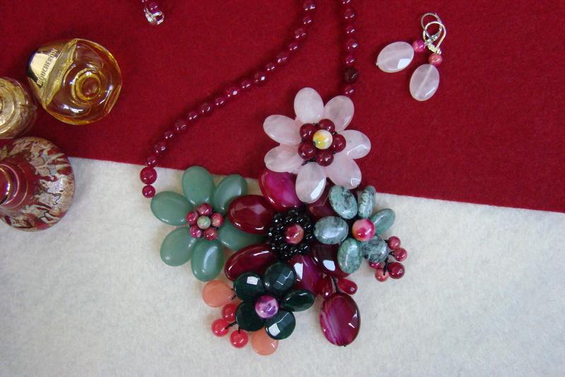 """""""Flori de piatră-Bijoux"""" albumul II-bijuterii artizanale marca Didina Sava - Pagina 8 Colie121"""