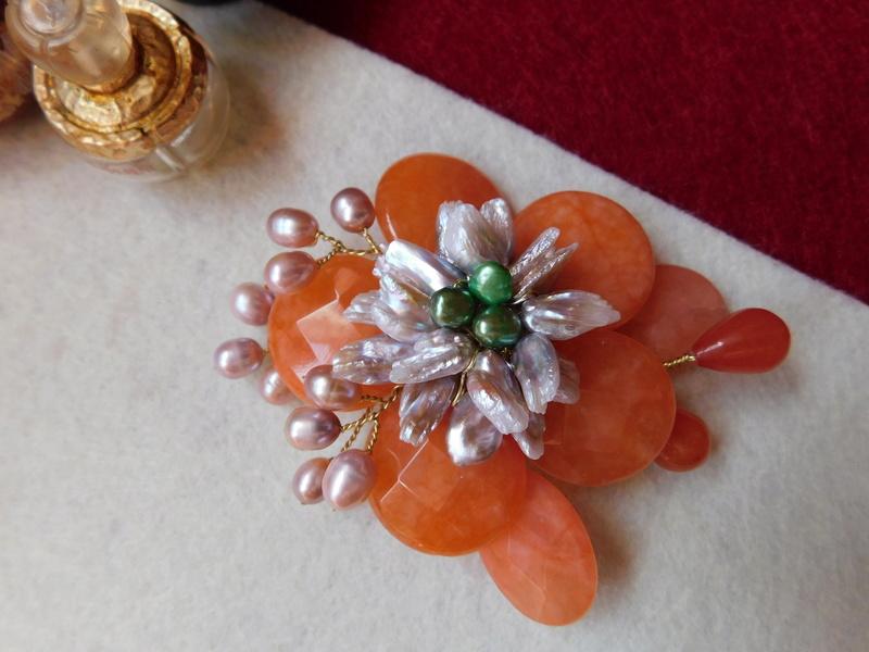 """""""Flori de piatră-Bijoux"""" albumul II-bijuterii artizanale marca Didina Sava - Pagina 10 Colie142"""