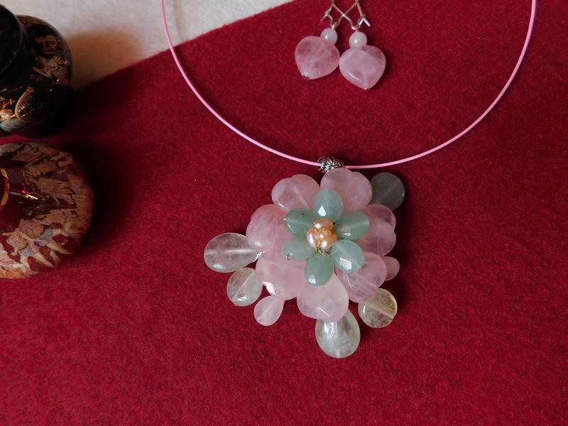 """""""Flori de piatră-Bijoux"""" albumul II-bijuterii artizanale marca Didina Sava - Pagina 10 Colie148"""