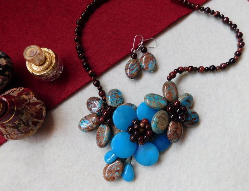 """""""Flori de piatră-Bijoux"""" albumul II-bijuterii artizanale marca Didina Sava - Pagina 6 Colie156"""