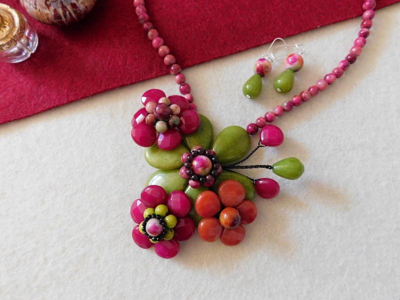 """""""Flori de piatră-Bijoux"""" albumul II-bijuterii artizanale marca Didina Sava - Pagina 6 Colie157"""