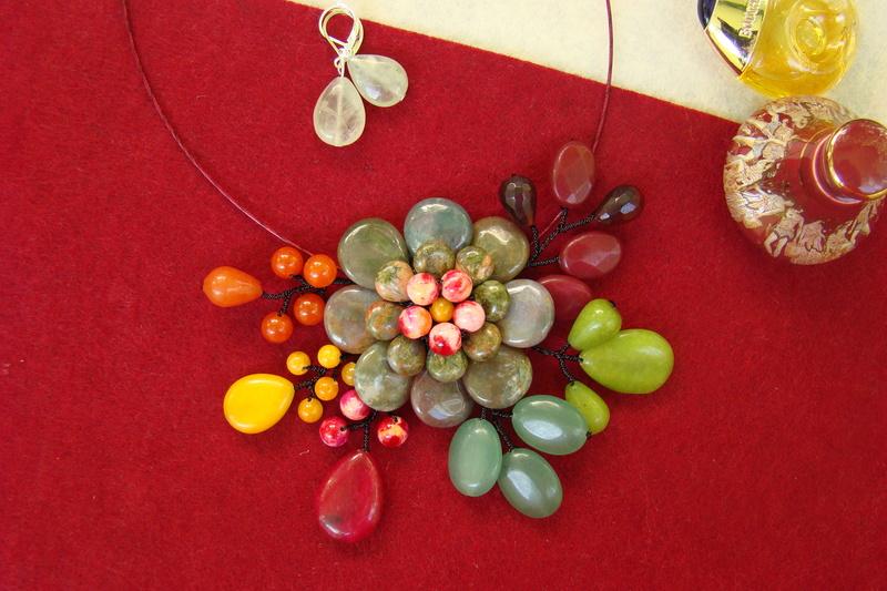 """""""Flori de piatră-Bijoux"""" albumul II-bijuterii artizanale marca Didina Sava - Pagina 11 Colier29"""