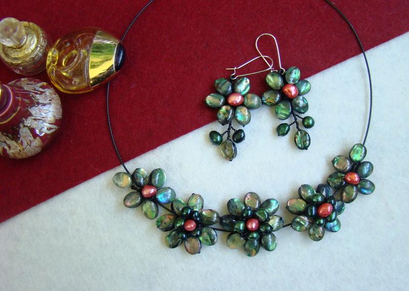 """""""Flori de piatră-Bijoux"""" albumul II-bijuterii artizanale marca Didina Sava - Pagina 11 Colier61"""