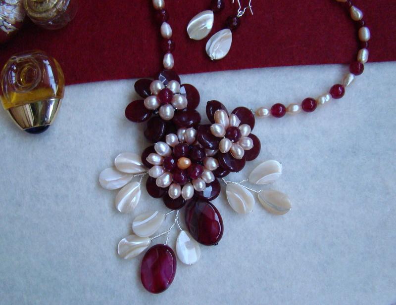 """""""Flori de piatră-Bijoux"""" albumul II-bijuterii artizanale marca Didina Sava - Pagina 8 Colier92"""