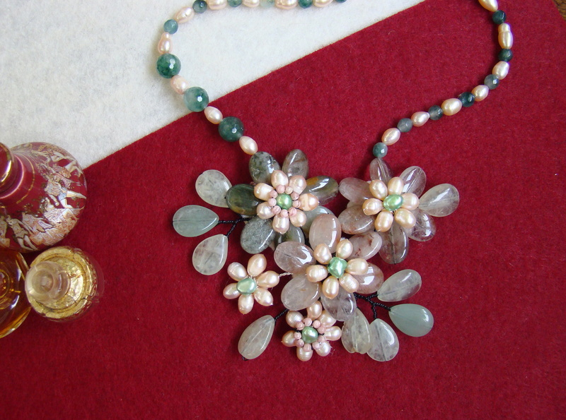 """""""Flori de piatră-Bijoux"""" albumul II-bijuterii artizanale marca Didina Sava - Pagina 8 Colier95"""
