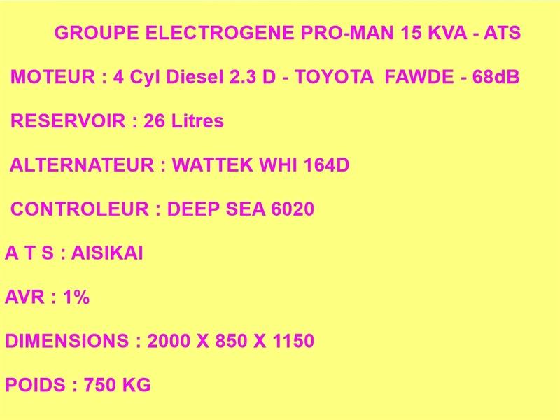 GROUPE ELECTROGENE NEUF 15KVA Gr_15k10