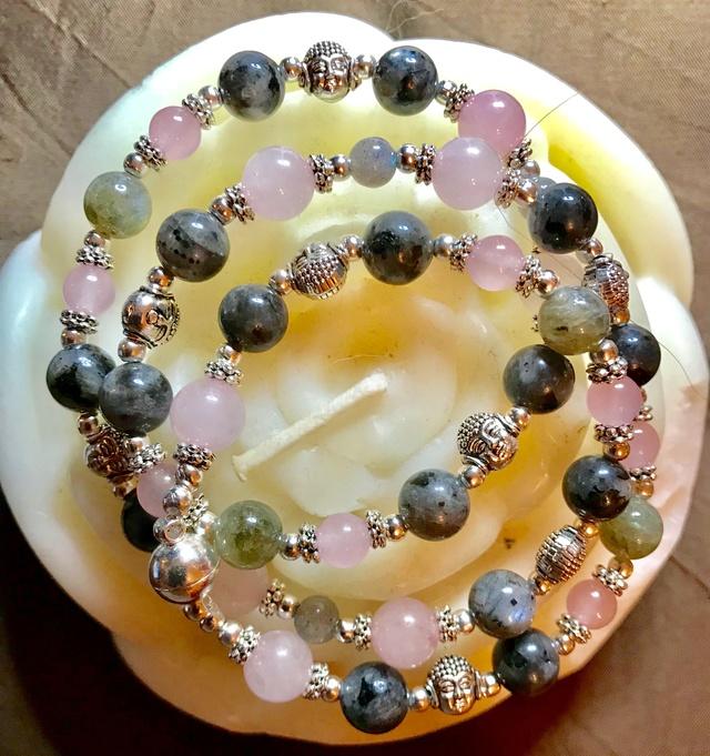 collier quartz rose labradorite et larvikite 4096ad10