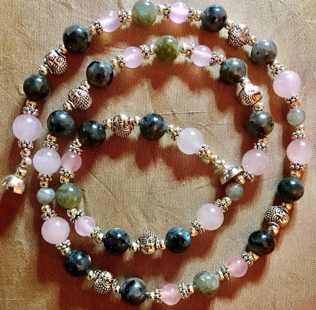 collier quartz rose labradorite et larvikite C9fc4610