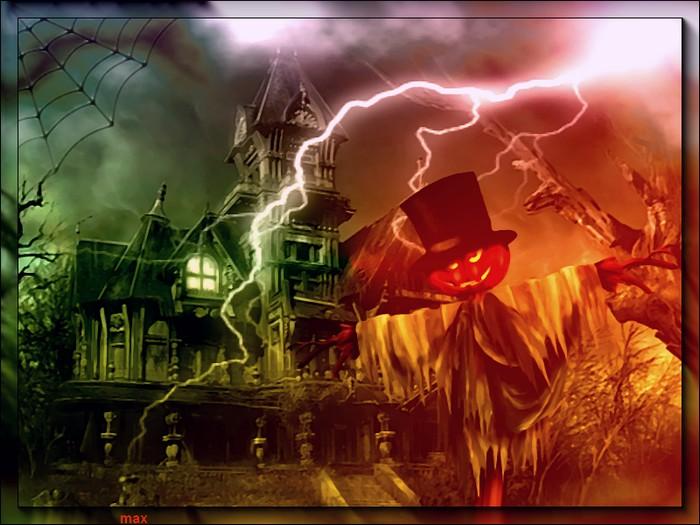 L'épouvantail d'halloween  12725110