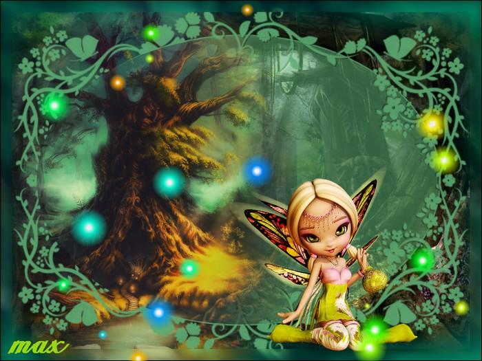 La petite fée et les lucioles  4f340b10