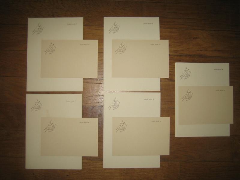 Lot de papier à lettre + carte pour la correspondance de nos soldats avec l'insigne du 60ième Bataillon de Chasseurs à Pieds WW1 VENDUS Img_0201