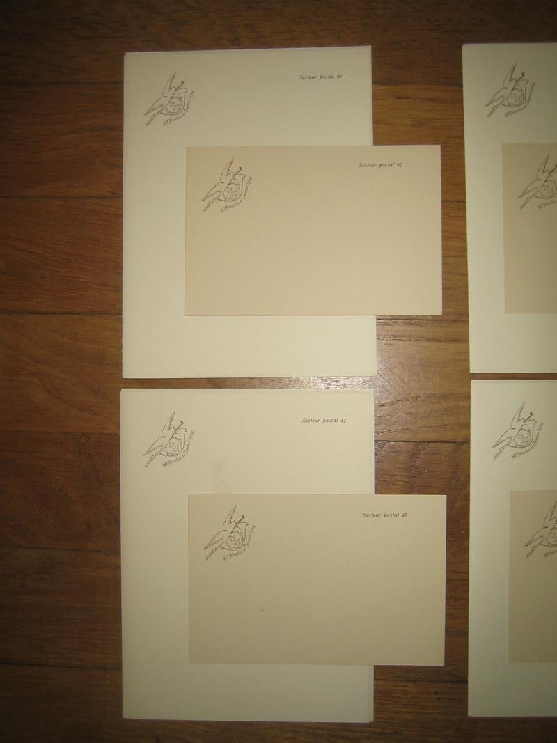 Lot de papier à lettre + carte pour la correspondance de nos soldats avec l'insigne du 60ième Bataillon de Chasseurs à Pieds WW1 VENDUS Img_0202