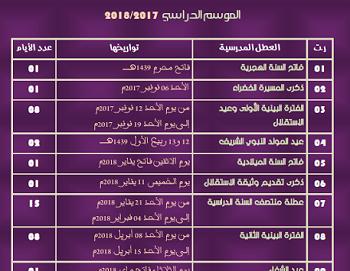 تواريخ العطل الوطنية والدينية والمدرسية بالمغرب 2018 O_oo_o10