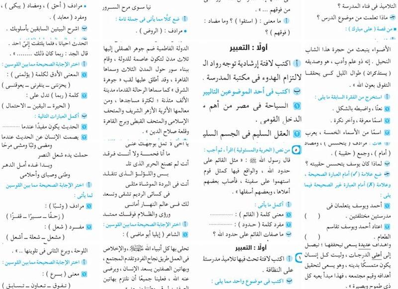 7 نماذج امتحانات تجريبية فى اللغة العربية للصف السادس الابتدائى الترم الثانى للحصول على الدرجة النهائية 1266