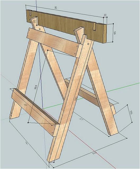 """Fabrication  """"urgente """" (façon Corse) de TRETEAUX en bois - Page 3 Tretau11"""