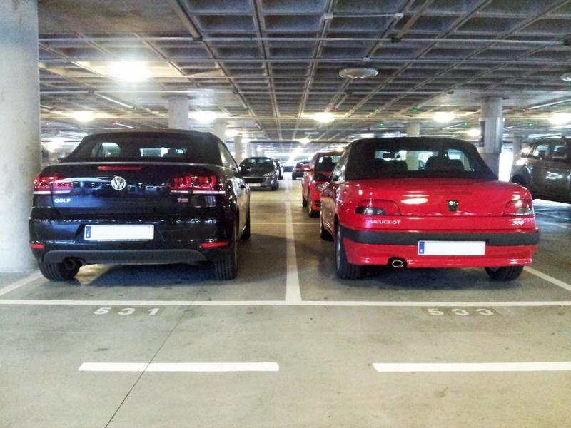 [ FOTOS ] 306 Cabrio vs/ Nuevo Volkswagen Golf Cabrio 20130511