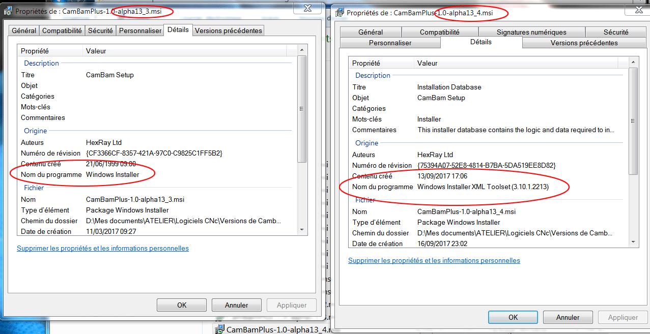 installation de la version 1 Rev 13-4 de Cambam Cbinst10