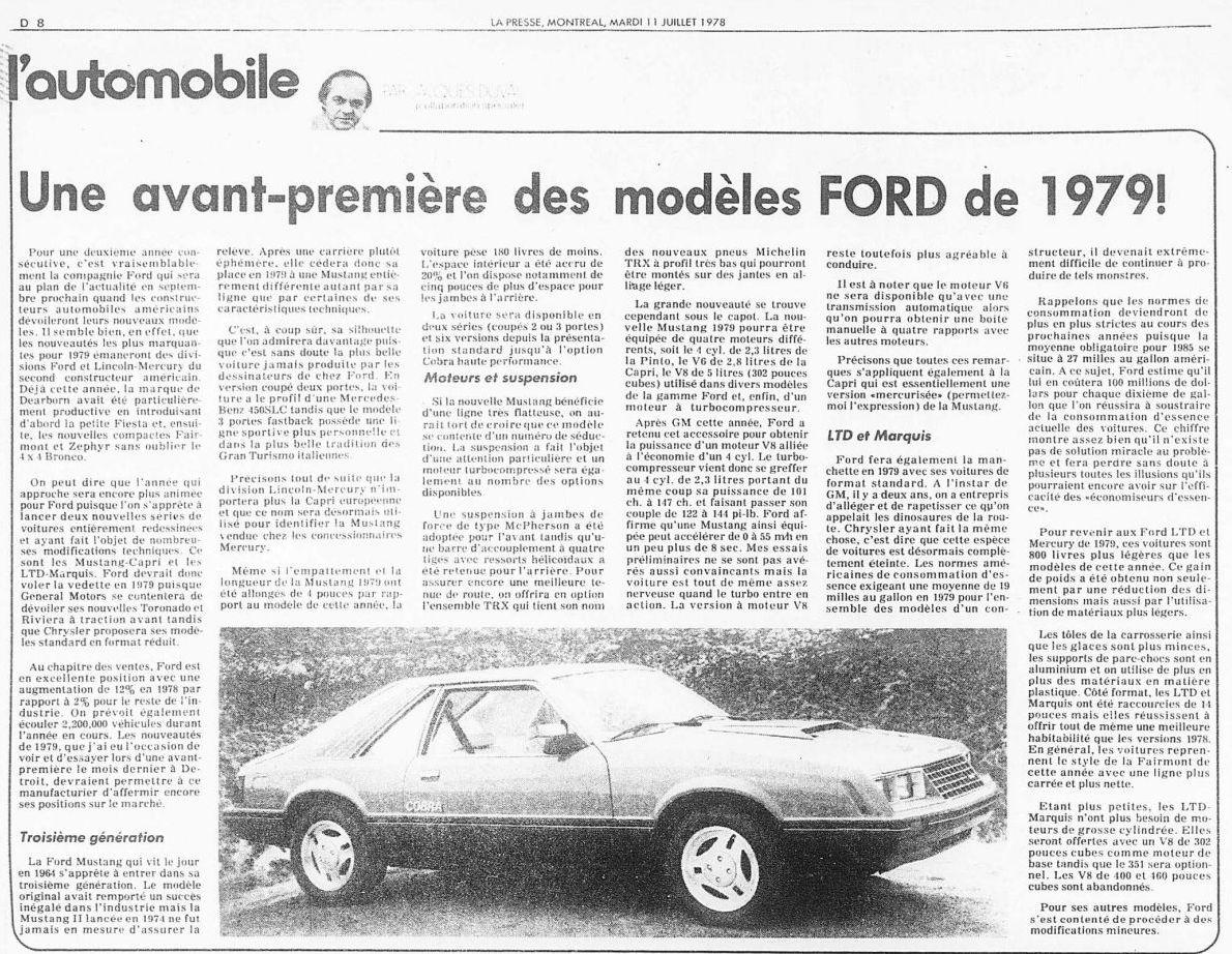 Article de journal sur la Mustang 1979 1978_014