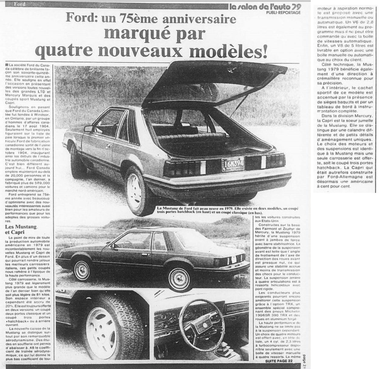 Article de journal sur la Mustang 1979 1979_011