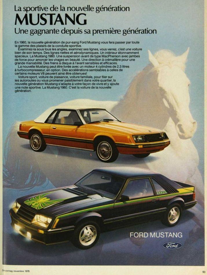 Publicité de Mustang 1980 en français Nouvel26