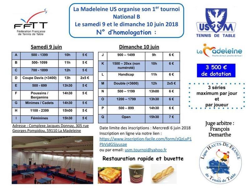 1er Tournoi National B de La Madeleine les 9 et 10 Juin Affich10