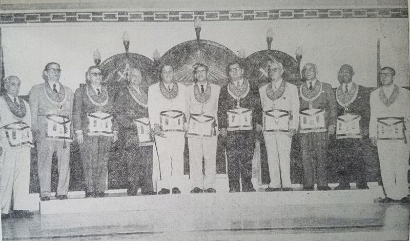 Inauguración del Gran Templo Nacional Masónico el 27 de Febrero de 1955 Decima10