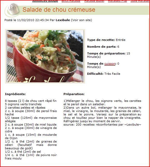recettes de tous les jours Salade10