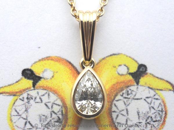Un pendentif or 18 K avec un diamant poire de 33/100 ct D VVS1 Dscn4010