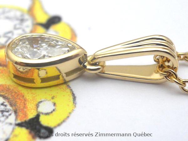 Un pendentif or 18 K avec un diamant poire de 33/100 ct D VVS1 Dscn4012