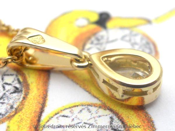Un pendentif or 18 K avec un diamant poire de 33/100 ct D VVS1 Dscn4014
