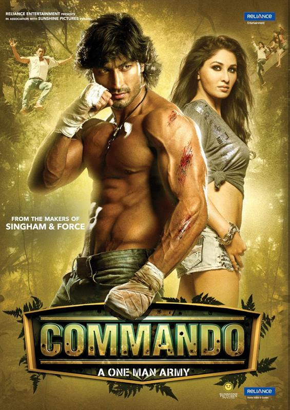"une affiche d'un flim bollywood  ""commando""....................bizarre Comman10"