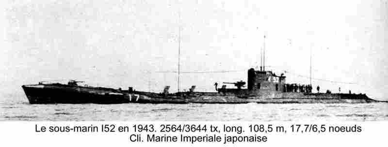 i 52 sous marin japonais avec ces lingots d'or I52en110