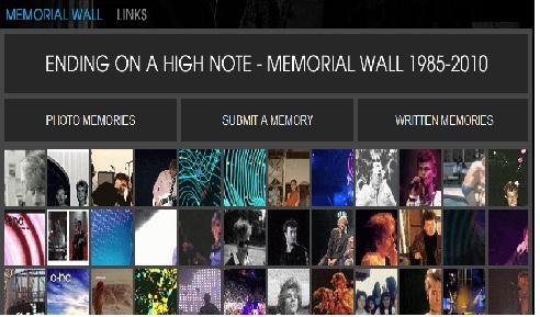 Memorial Wall, envie sua foto, para o site a-ha. Memori10