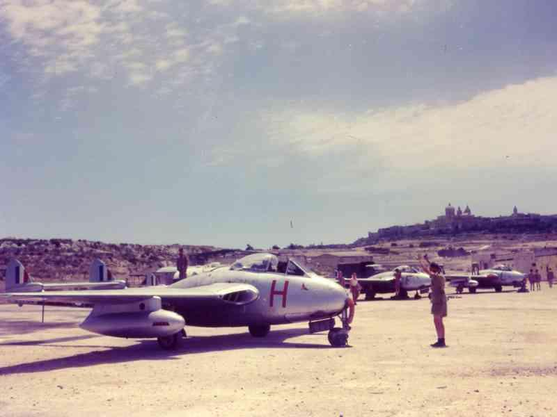 RAF based or visiting Malta post war Vampir10